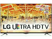"""LG 49"""" 4k UHD smart wifi tv builtin HDDR HD FREEVIEW like new . This is lg top model hot all new"""