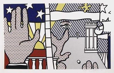 Roy Lichtenstein, Inaugural Print 1977 Serigraph Hand signed ed. of 100 framed