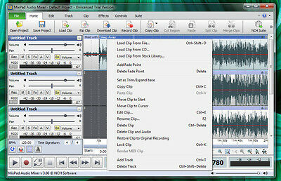 MixPad Multitrack Sound Recording / Mixing Software