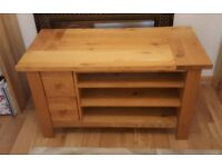 Solid Oak TV & Entertainment stand - Barker & Storehouse