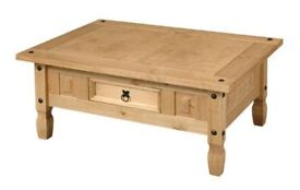 New & boxed Solid Cheap Corona Mexican Pine coffee table £65 get yours now