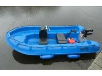 Whaly 370 dinghy in blue