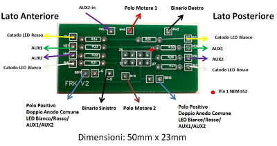 Nuovo Adattatore V2 PCB Decoder DCC con presa Nem 652 - Qualunque...