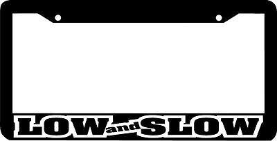 LOW AND SLOW -outline-  jdm JDM  License Plate (Frame Outline)