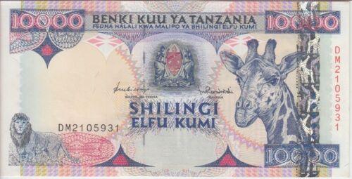 TANZANIA BANKNOTE P33 10.000 10,000 SHILLINGS 1997 ALMOST UNC -UNCIRCULATED