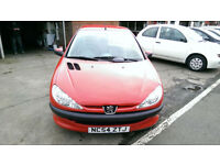 PEUGEOT 206 1.1 INDEPENDANCE 3 DR BRIGHT RED LOW MILES FSH ONLY £13 WEEK P/LOAN
