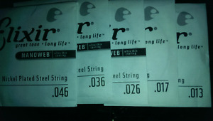 Elixir Nanoweb coated guitar strings