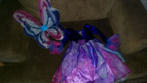 Fairy Costume with matching fairy wings size 4-6X