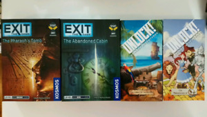 Unlock and exit the game escape board games