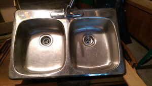 Stainless steel sink and faucet. Peterborough Peterborough Area image 1