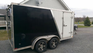 2012 19' Miska Predator Enclosed Snowmobile trailer. Kingston Kingston Area image 2