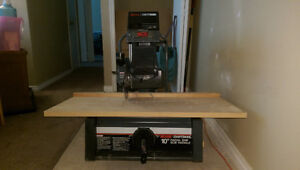 Craftsman 10 Inch Radial Arm Saw With Blade & Manual