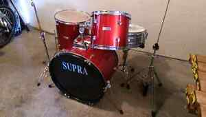 Supra 4 piece with cymbal and hihat Cambridge Kitchener Area image 2