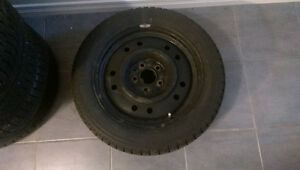 Mazda 3 Snow rims and tires 205/55/16. Kitchener / Waterloo Kitchener Area image 1
