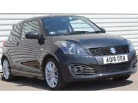Suzuki Swift Sport 1.6 Petrol Manual 3 Door Hot Hatchback Black 2016