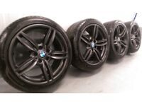 """Genuine BMW 5 6 Series 19"""" 351 M Sport Alloy Wheels And Tyres F10 F11 F12 13 E60"""