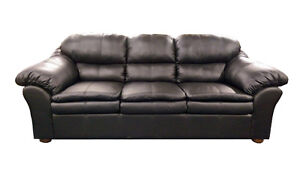 BRAND NEW BANDED LEATHER SOFAAND LOVESEAT WITH FREE DELIVERY