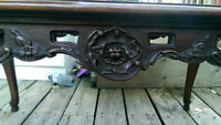 Antique Hand Carved Coffee Table