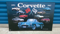1953 - 1967 History of CORVETTE Wooden Plaque Awesome MINT L@@K