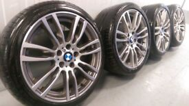 """Genuine BMW 3 4 Series 19"""" 403 M Sport Alloy Wheels And Tyres F30 F31 F32 F33 DC E90"""