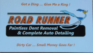 ROAD RUNNER  PAINTLESS DENT REMOVAL & COMPLETE AUTO DETAILING