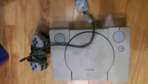 PlayStation 1 with controller