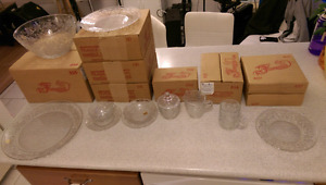 Princess House Crystal Glassware Set