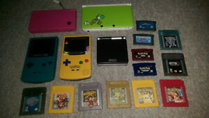 Gameboys, dsi, Sp, 3ds and games lot
