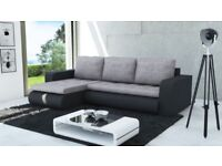 Universal sofa bed in light grey & black FREE DELIVERY