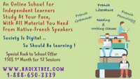 TRY IT NOW, Online French-English-Math Tuition In Good Price. BC