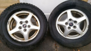 15'- 5x115 aluminum winter wheels