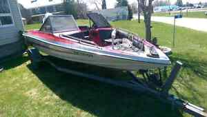 1988 glastream bass boat with 60 hp