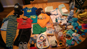Baby supplies (approx 0-12 months) a bit of everything! Clothes