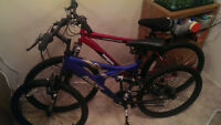 2 mountain bikes for sale $60 each