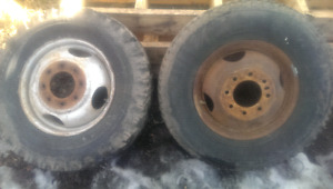 "Two 16.5"" GM Dually Rims"