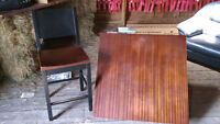 Bar Style Table, With 4 Chairs