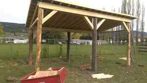 Custom built tack shop and shelter
