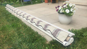14' & 10' Manual Retractable Awning Patio Canopy Deck Shelter
