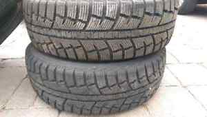 4 Minerva winter tires, 215/70R16 barely used West Island Greater Montréal image 3