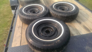 P235-75R 15 Whitewall Tires (3) Excellent Condition