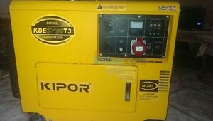 KDE6700TA3 KIPOR   SILENT DIESEL GENERATOR NOW WITH 12  MONTHS WARRANTY