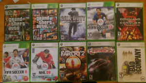Xbox 360 games for sale immediately
