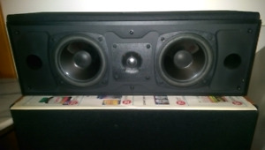 MIRAGE HOME THEATER SURROUND SPEAKERS AND CENTER CHANNEL REDUCED