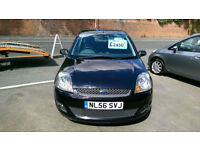 FORD FIESTA 1.25 5 DOOR BLACK 70K MILES AIR CON ONLY £14 WEEK P/LOAN 3YEARS 2006