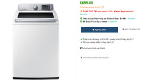 Samsung High Efficiency Top Load Washer - 5.2 Cu. Ft