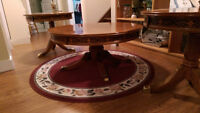 Table a Cafe/Coffee table + 2 tables de bout/end tables