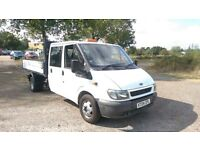 FORD TRANSIT CREW CAB TIPPER TRUCK 2.4TD 2004 04 REG - NEW MOT - DRIVES PERFECTLY - NO VAT!!!!!
