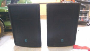 Yorkville Pulse TL12C 250watt PA speakers w/ cables