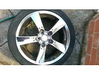 4 x Mazda RX8 JAP ALLOY WHEELS IN CHROME WITH TYRES JDM 5 STUD x 114