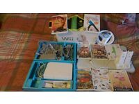 wii console+wiifit board8 games 2 controllers